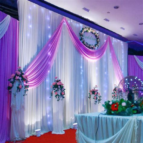 wedding decoration 1 5 5m wedding silk satin fabric