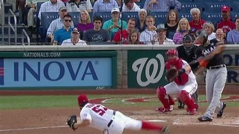 Goodwin's homer in 8th lifts Nationals over Marlins 3-2