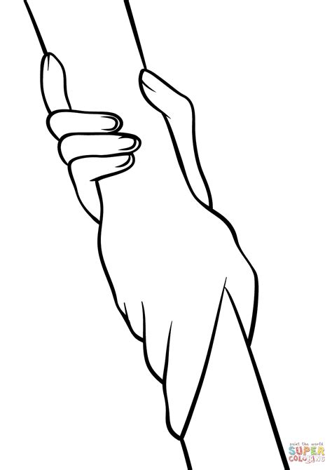 helping hands coloring page  printable coloring pages