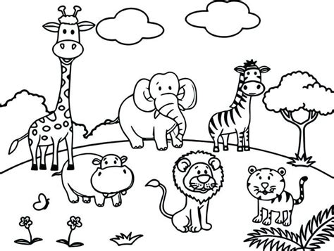 wild animal coloring pages  images zoo coloring