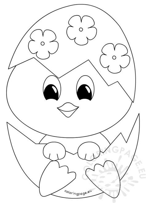 easter coloring page baby chick coloring page