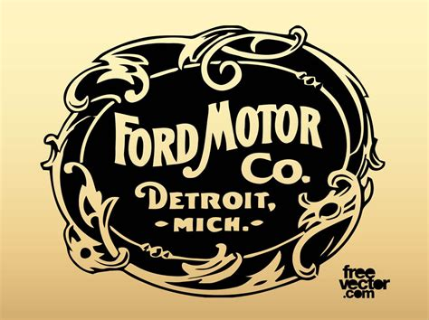 Old Ford Motor Company Logo Vector Art & Graphics