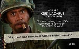 Kirk Lazarus Tropic Thunder Quotes. QuotesGram