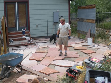 how to put flagstone building a flagstone patio by david hart durango landscaping company