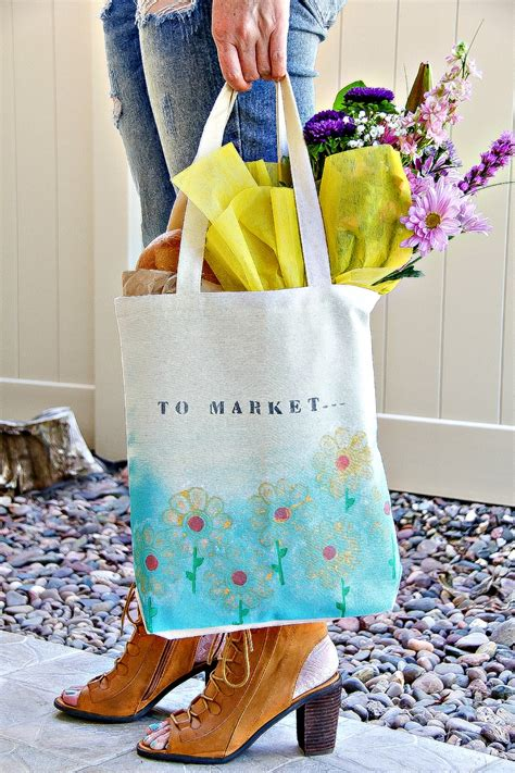 hand painted shopping bags  mom   takes
