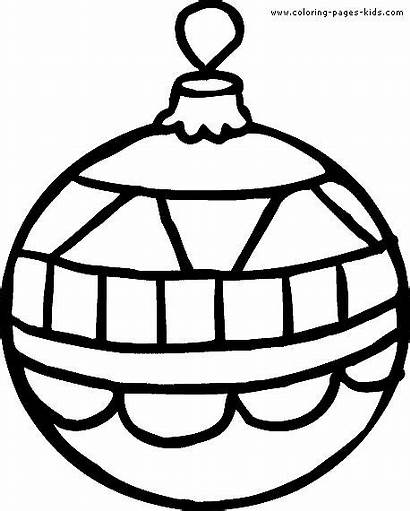 Christmas Clipart Ornaments Coloring Printable Ornament Pages
