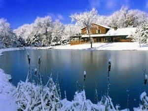 Sfondo casa sul lago