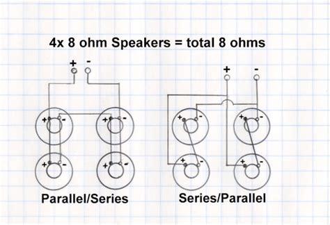Wiring 8 Ohm Speaker In Series by Wiring Diagram For Mono 4ohm 16ohm 4x12 Marshallforum