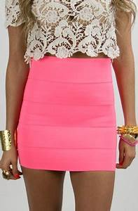 NEON BODYCON SKIRT on The Hunt