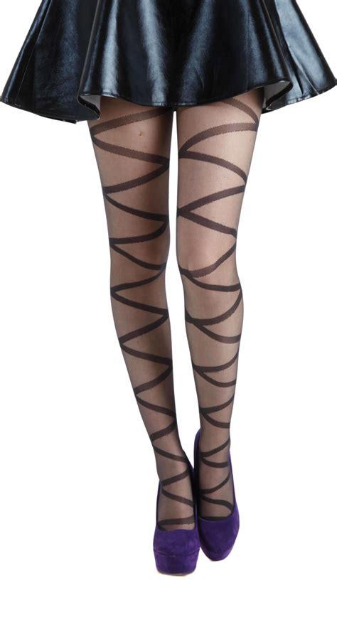 wholesale criss cross sheer tights black pamela mann