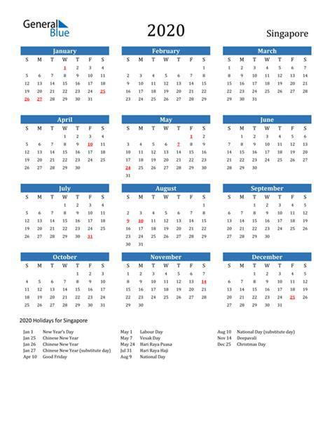 printable calendar   word  excel singapore
