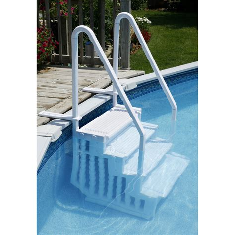 above ground pool steps for decks easy pool step above ground pool step ne113