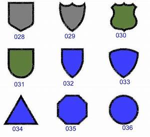 patch shapes With military patch template