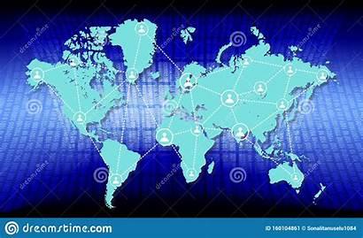 Map Partnership Network Global Connection Communication Technology