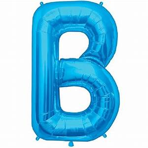 blue letter b 34 inch foil balloon With blue letter balloons