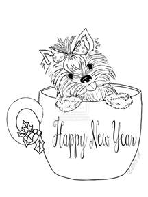 Teacup Yorkie Puppy Coloring Pages