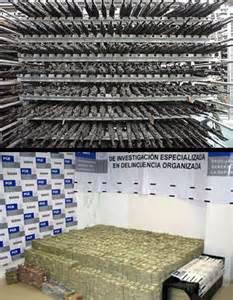 Real Money Stacks Drugs and Guns