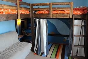 diy l shaped bunk beds part ii timandmeg net