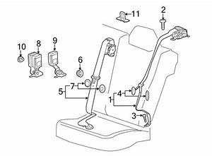 Chevrolet Malibu Belt  U0026 Retractor Bolt  Belt  U0026 Retractor Lower Bolt  Center Belt Assy Screw