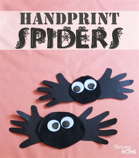 31 easy crafts for preschoolers thriving home 608 | halloween hand print craft