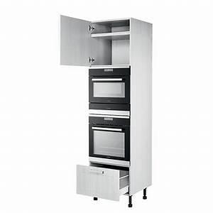 Hauteur Micro Onde : armoire four micro ondes et tiroir chauffant grande hauteur meuble ~ Melissatoandfro.com Idées de Décoration