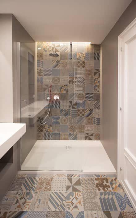 bagno moderno interior design idee  foto  nel