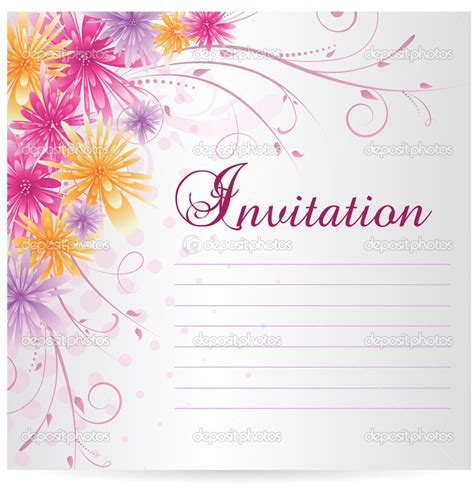 Engagement Invitation Blank Card