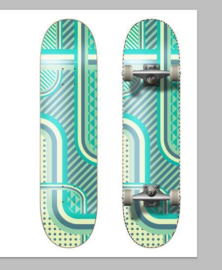 design a skateboard how to create a patterned vector skateboard design