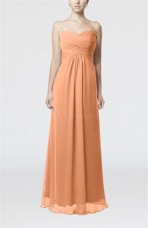 apricot color dress apricot simple empire sweetheart zipper ruching bridesmaid