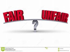 Fair Or Unfair? Stock Illustration - Image: 50469638