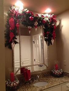 44 best images about christmas bathroom decor on pinterest With holiday bathroom decorating ideas