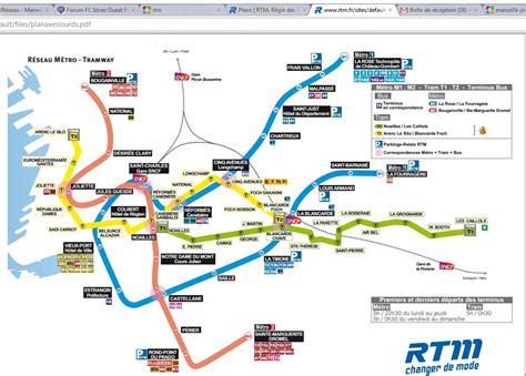 bureau rtm marseille plan métro rtm