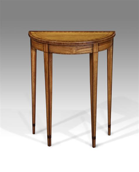 small l table small antique console table satinwood table demi lune