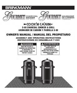 brinkmann smoker s 80 user s guide manualsonline com