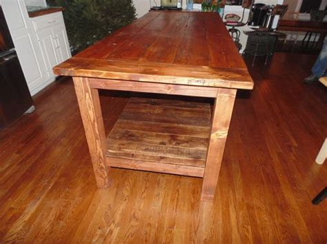 hand crafted reclaimed wood farmhouse kitchen island