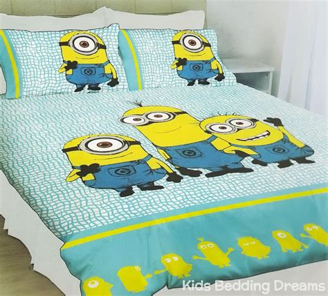 despicable me quilt cover set minions bedding kids