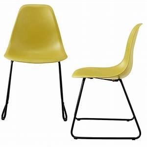 Stühle Retro Design : 2x design st hle 82x46 5cm esszimmerst hle stuhl set retro kunststoff ebay ~ Indierocktalk.com Haus und Dekorationen
