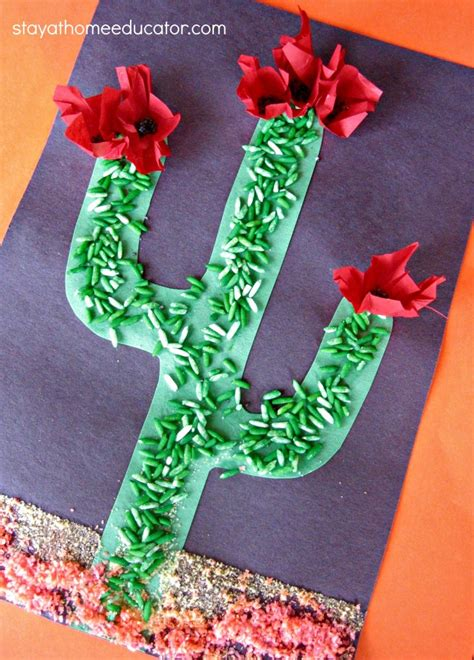 sensory cactus craft fun family crafts
