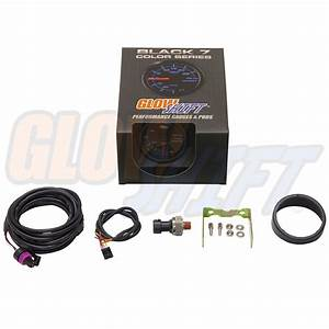 52mm Glowshift Black 7 Color Led Electronic Fuel Pressure