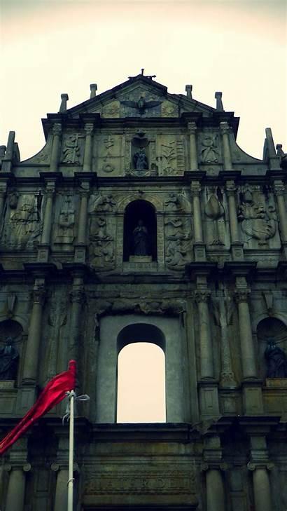 Paul St Edited Ruins Monument Macau Iphone