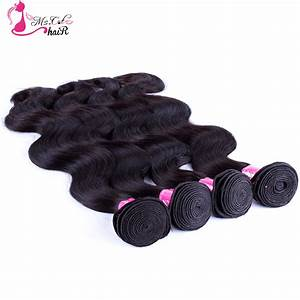 Ms Cat Hair Malaysian Body Wave Hair Bundles Non Remy Hair ...