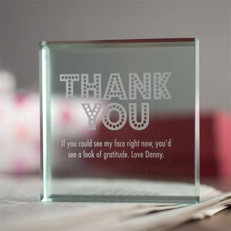 personalized sale personalised glass token thank you gettingpersonal co uk