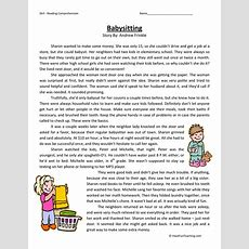 Fourth Grade Reading Comprehension Worksheets  Have Fun