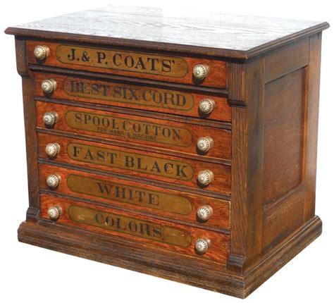 Cabinet Knobs For Oak Cabinets by Spool Cabinet J P Coats Oak 6 Drwr W Knobs