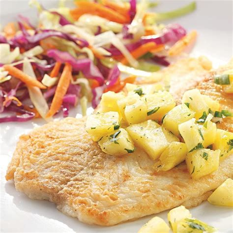 fish fillets with pineapple jalapeno salsa recipe eatingwell