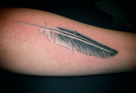 awesome pigeon feather tattoos