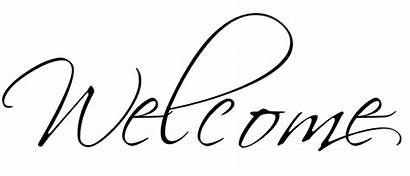 Welcome Calligraphy Spring Fonts Transparent Vinyl Sew