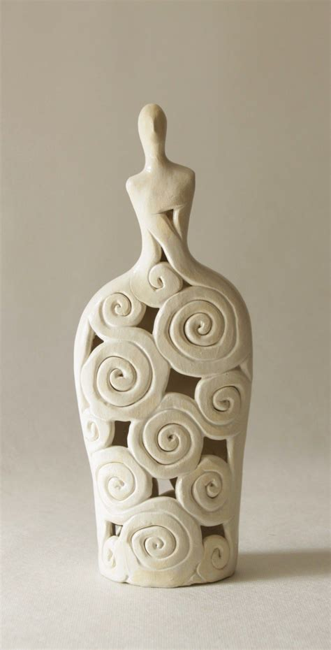 home decor ceramics stylish openwork ceramic sculpture clay sculpture handmade