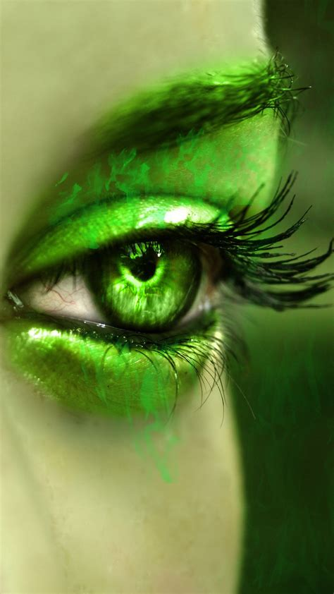 Green Eyes Wallpaper Wallpapersafari