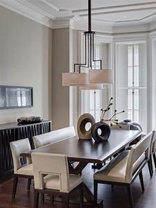 Dining room benches with contemporary edge for Contemporary dining room sets with benches